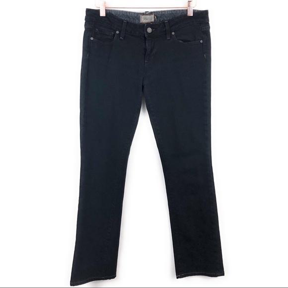 PAIGE Denim - Paige Black Blue Heights Low Rise Skinny Jeans 29